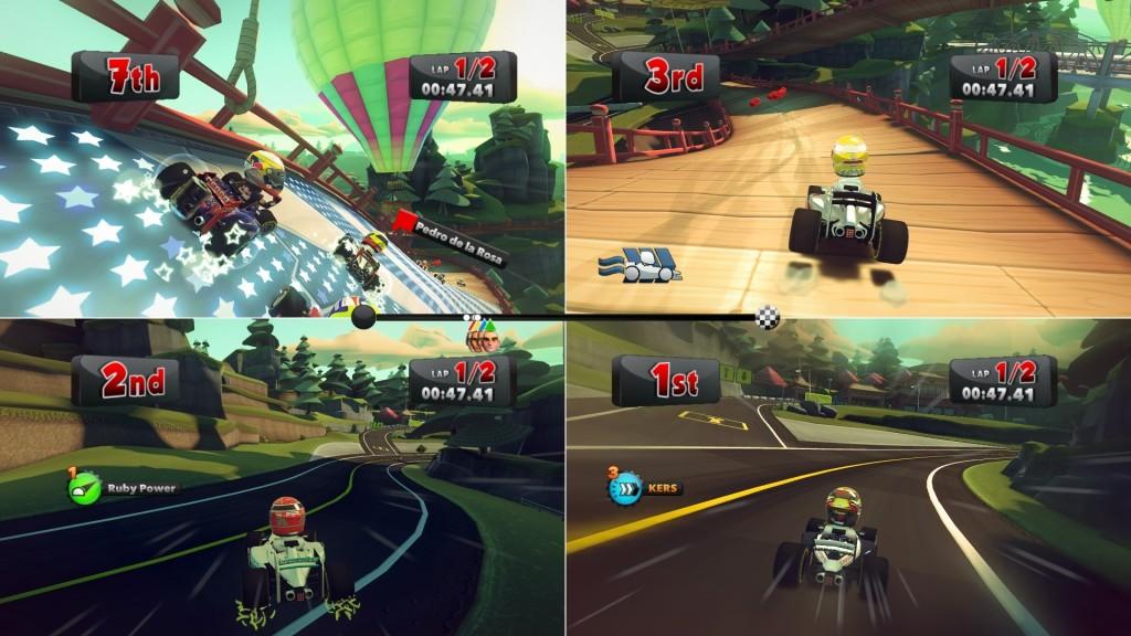F1 Race Stars Graphics Split Screen