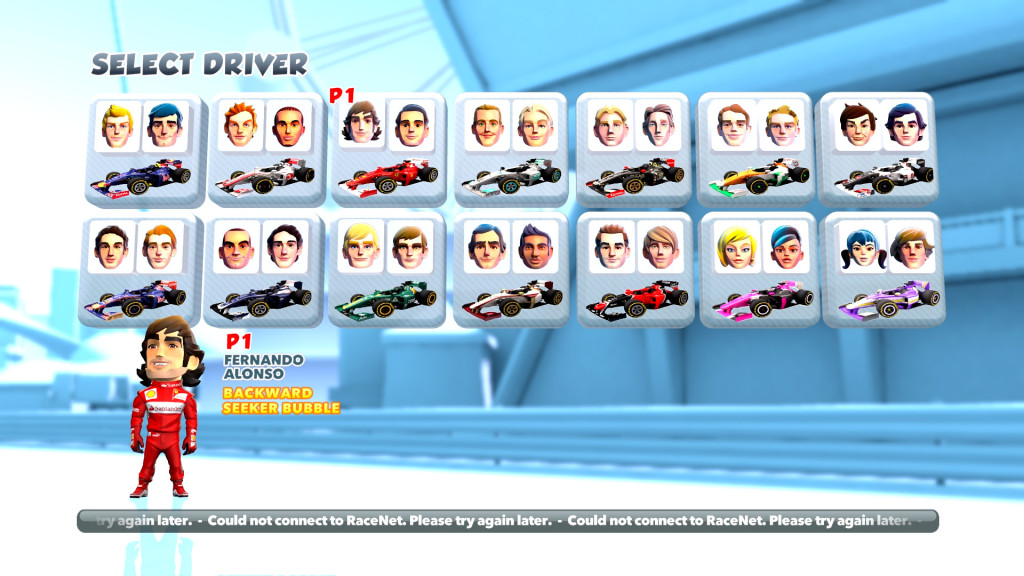 F1 Race Stars Selection
