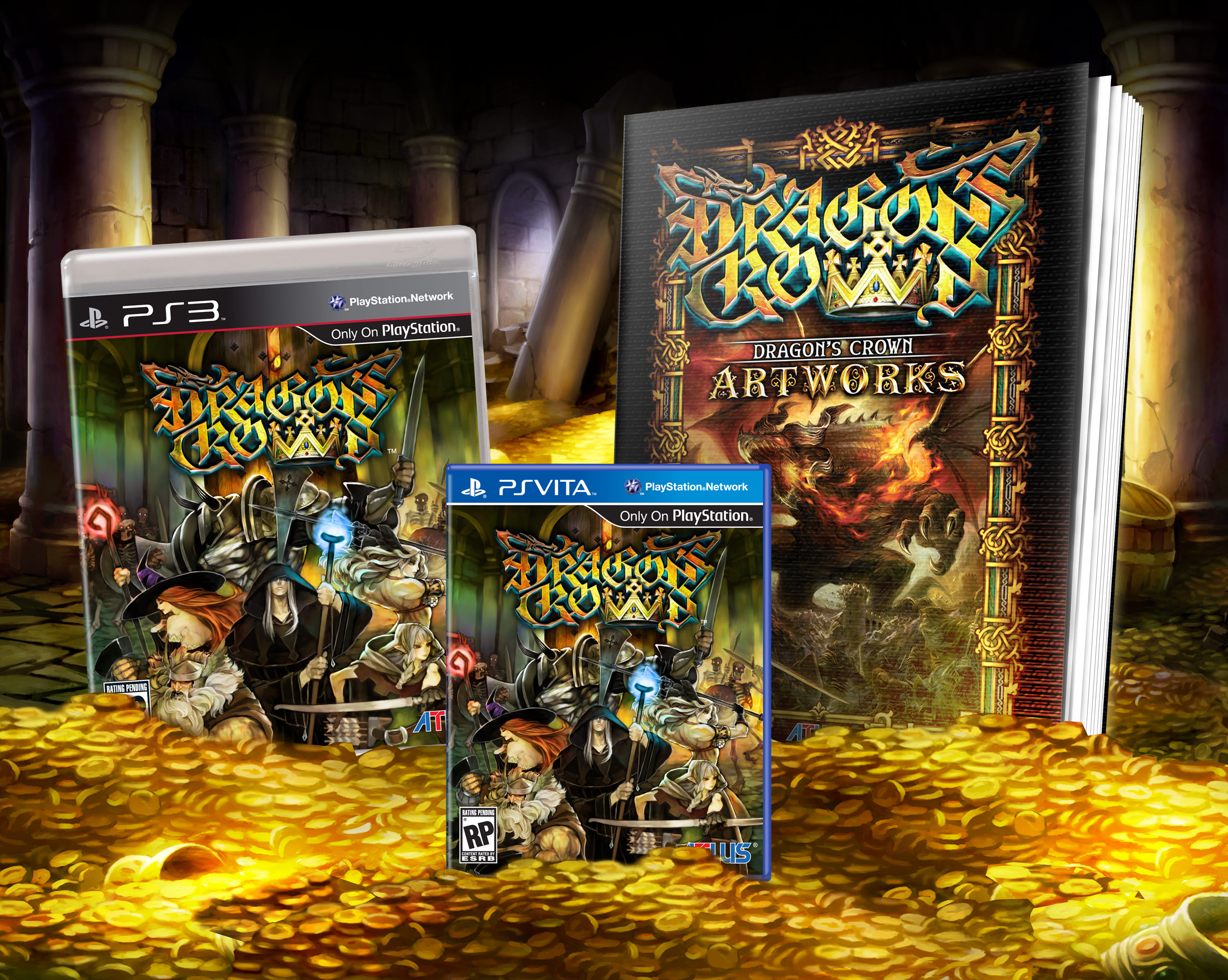 Dragon's crown pro royal package famitsu dx pack limited edition.