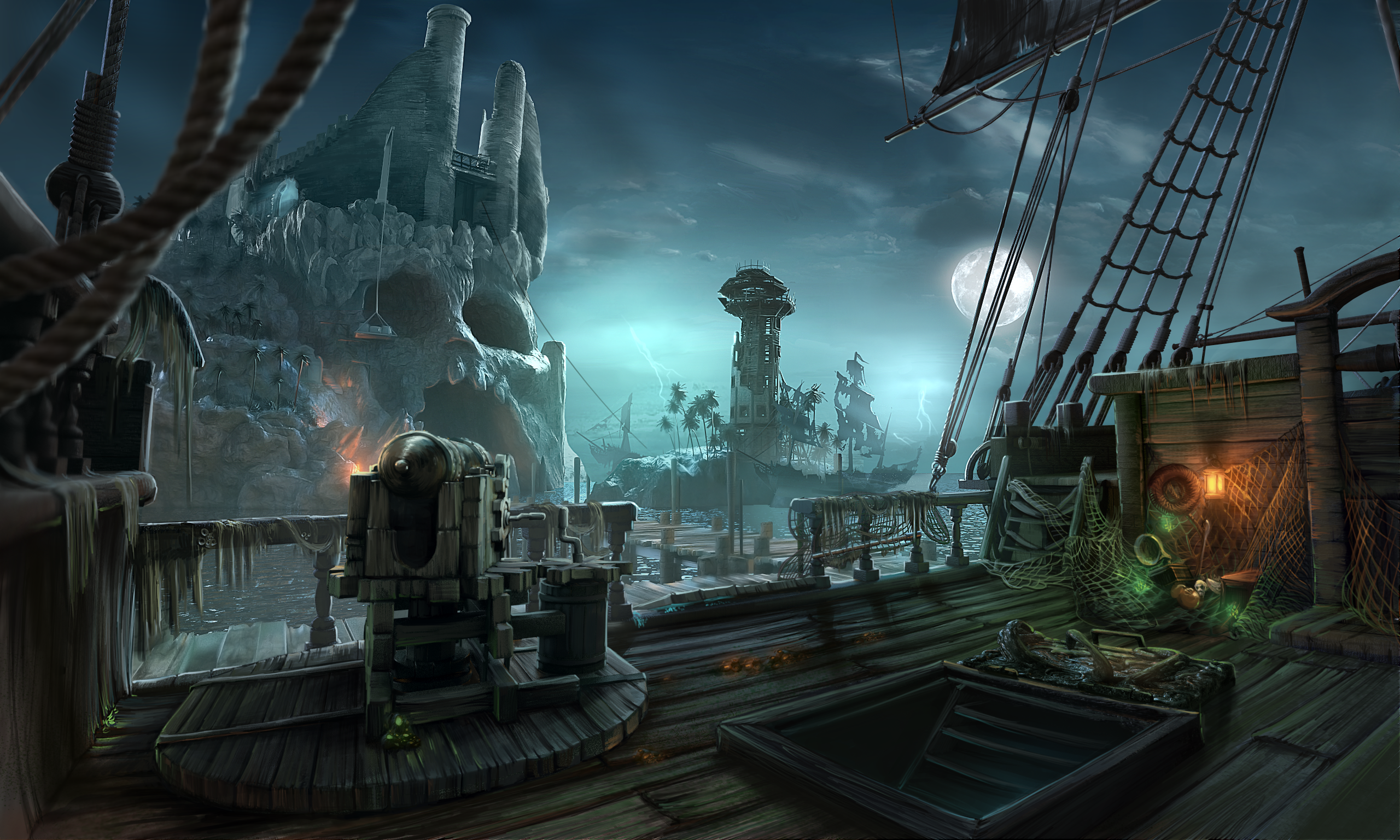 ghost pirate ship deck - photo #32
