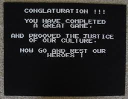 NESGB victory screen