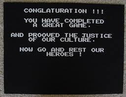 NESGB victory screen