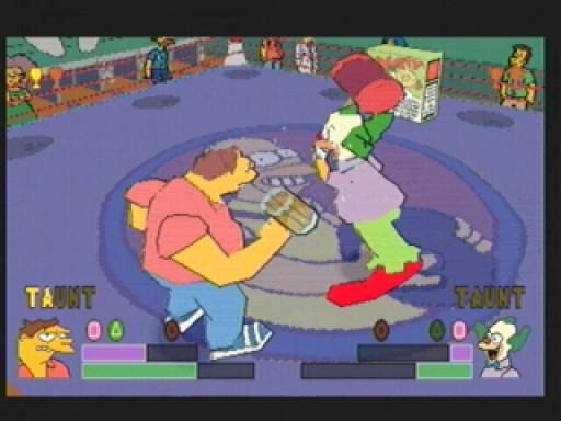 wrestling krusty vs barney