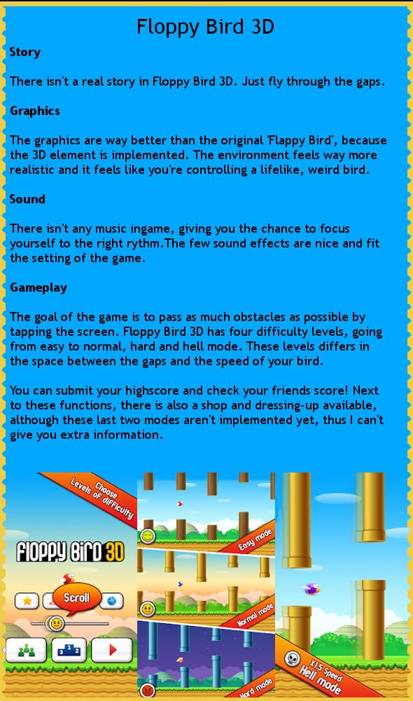 Floppy Bird 3d - review