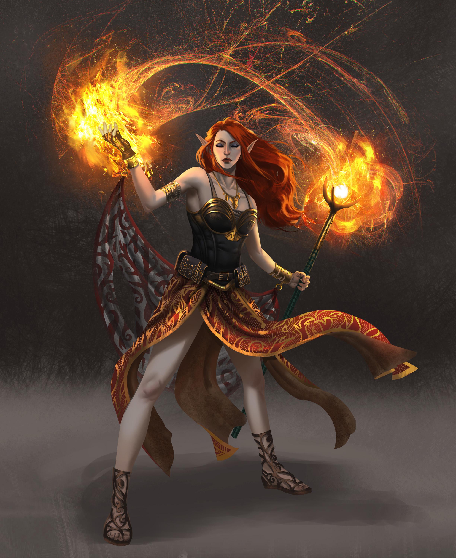 Female wizard hentia scene