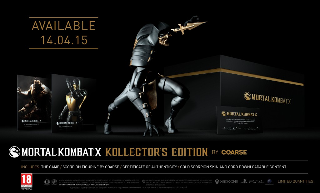 mortal kombat x kollectors edition by coarse