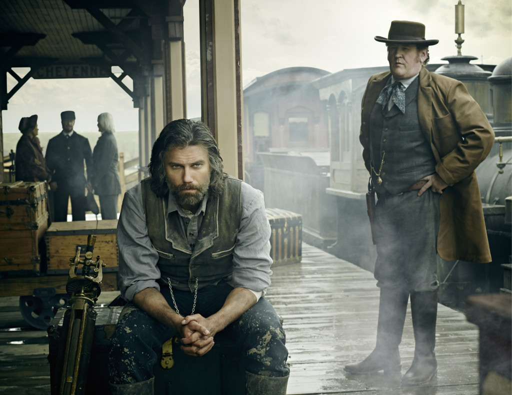 Anson Mount as Cullen Bohannon and Colm Meaney as Thomas 'Doc' Durant - Hell On Wheels _ Season 4, Gallery - Photo Credit: James Minchin III/AMC