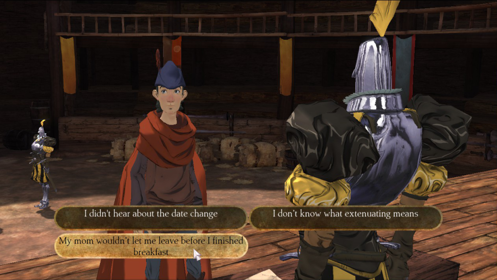 Kings Quest Chapter 1 conversation