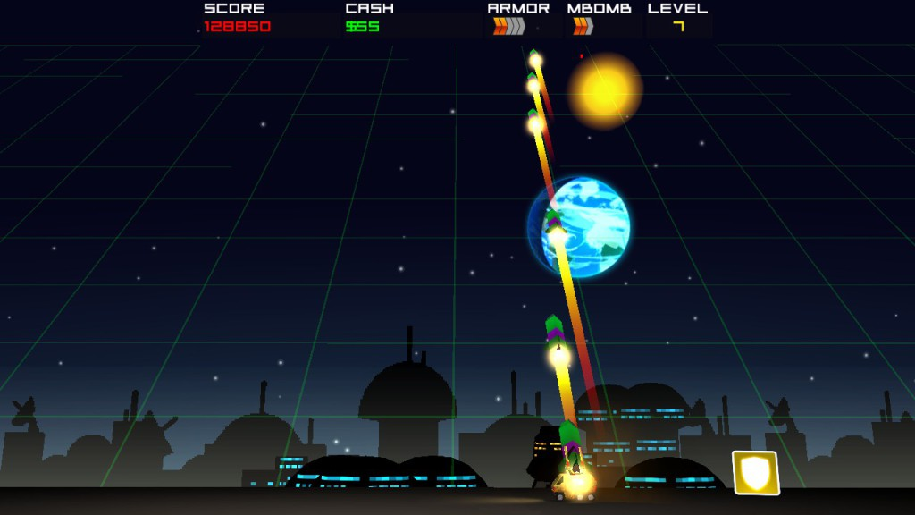 cosmic rocket defender -2