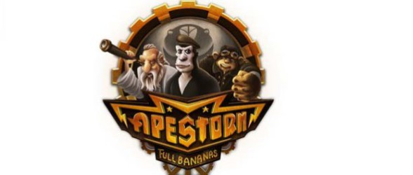 Flee from monkeys in Apestorm: Full Bananas