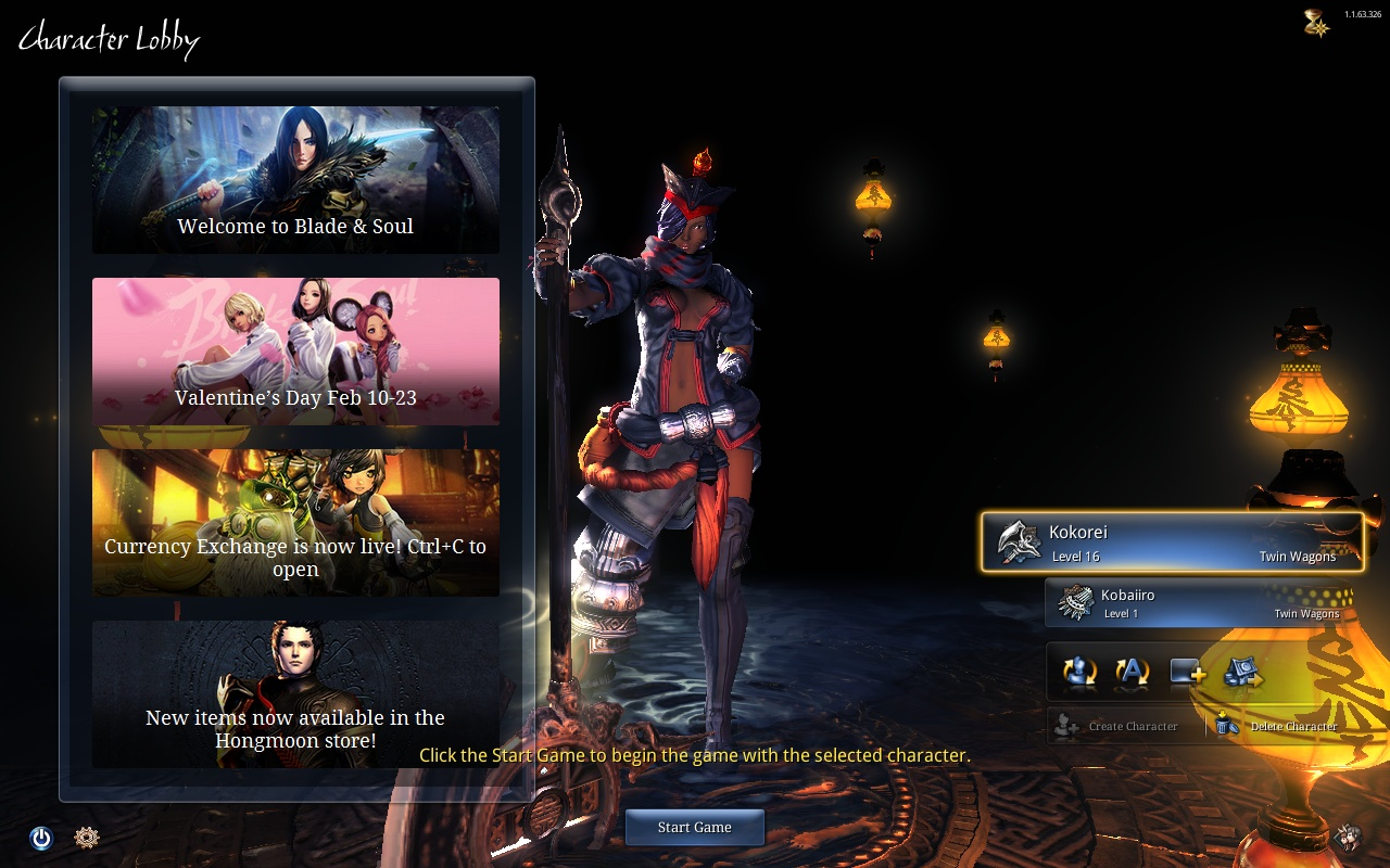 blade and soul more character slots