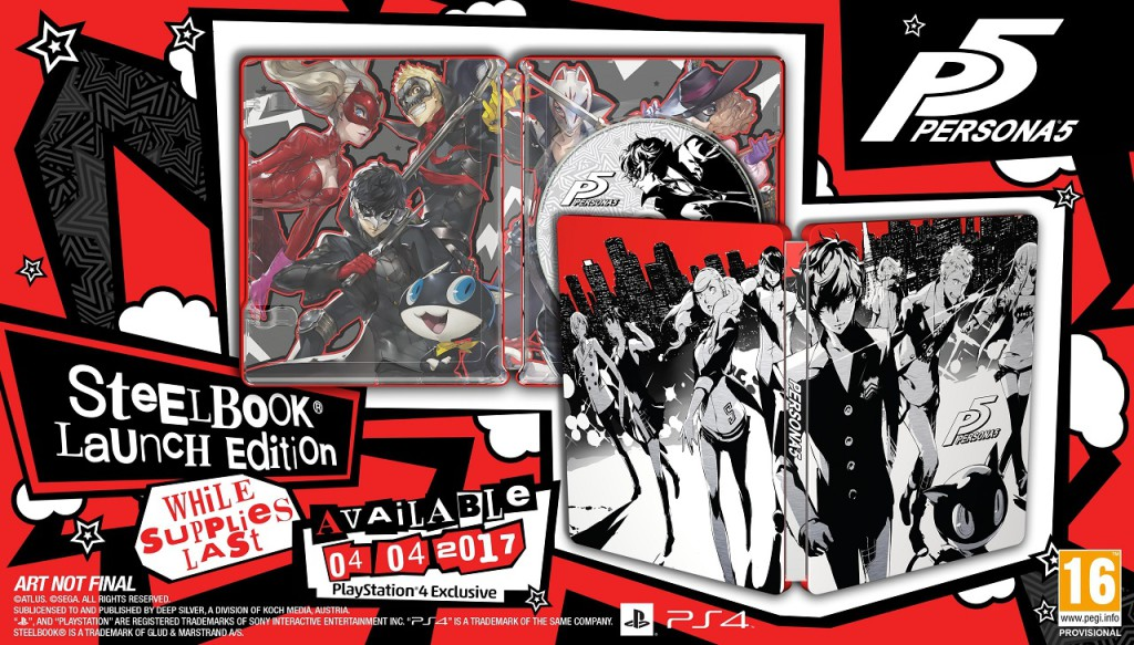 SteelBook Edition Persona 5 PS4
