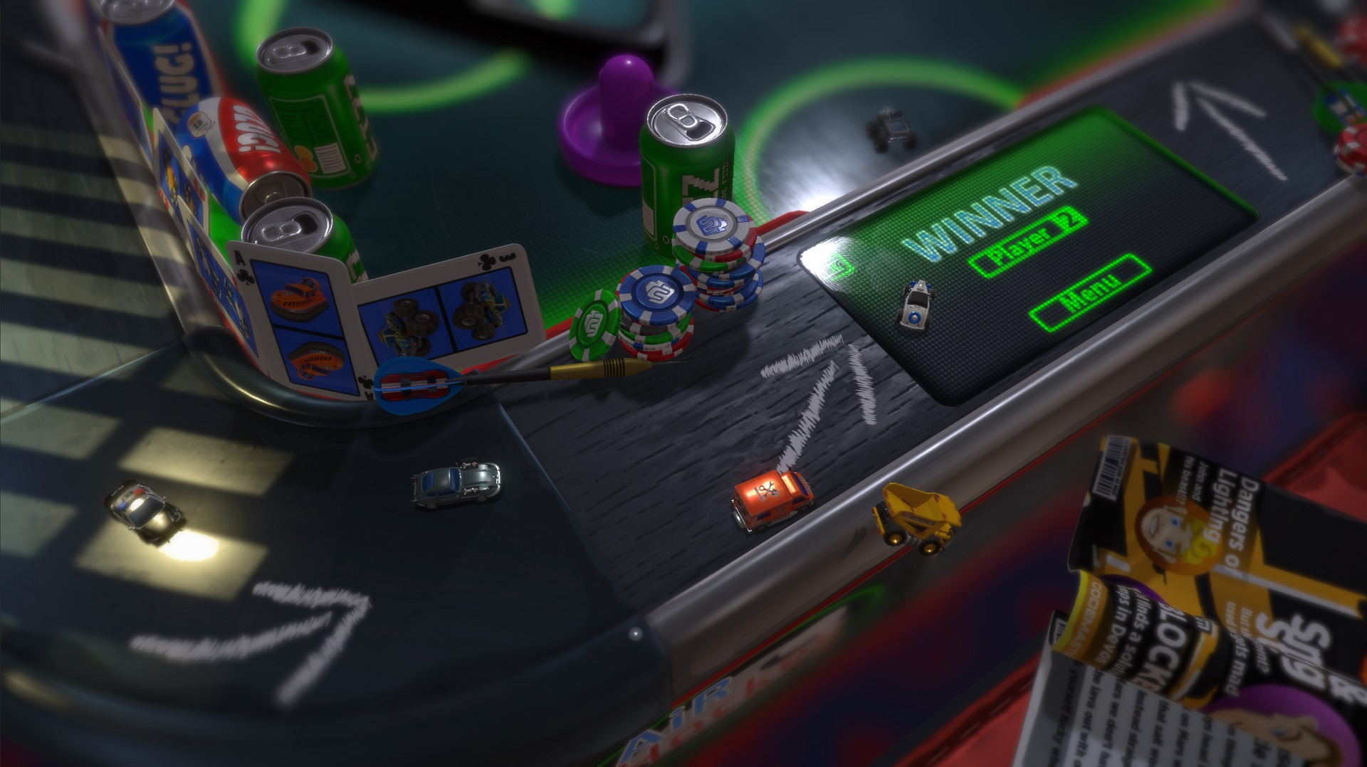 Micro Machines - Cornered into a mistake