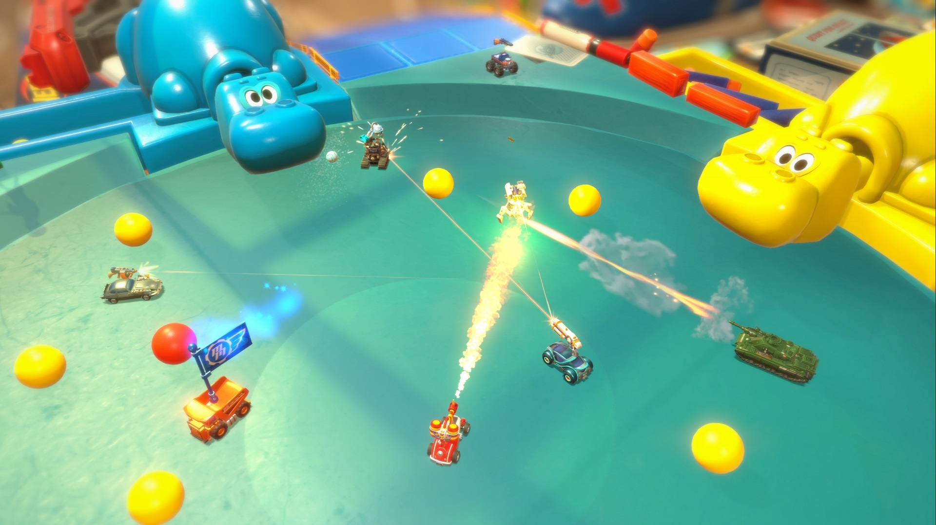 Micro Machines - Hungry Hungry Hippos Battle Arena