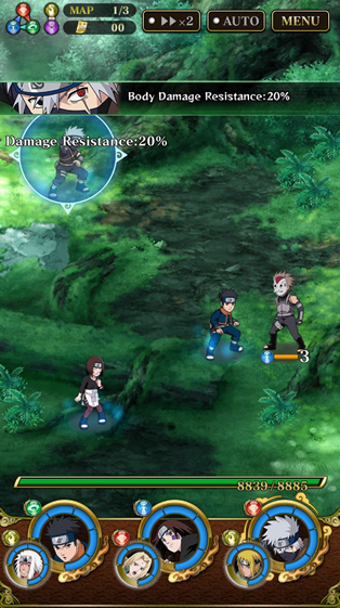 NARUTO SHIPPUDEN Ultimate ninja blaze screenshot
