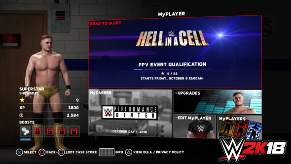 WWE 2K18 Reveals New MyPlayer and Road To Glory Mode