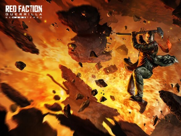 Wreak havoc on Mars in: Red Faction Guerrilla Re-Mars-tered