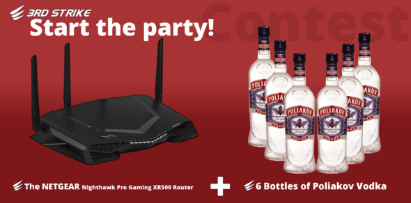Contest: NETGEAR Nighthawk Pro Gaming XR500 Gaming Router and Poliakov 6x 1l LAN party pack
