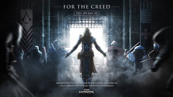 For the Creed, the new cross-over event between For Honor and Assassin's Creed playable now