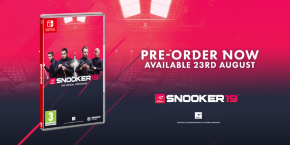Snooker 19 cues up on Nintendo Switch on August 23rd