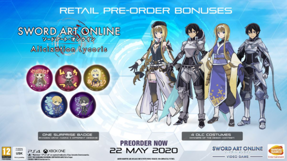 SWORD ART ONLINE Alicization Lycoris releases May 22 2020