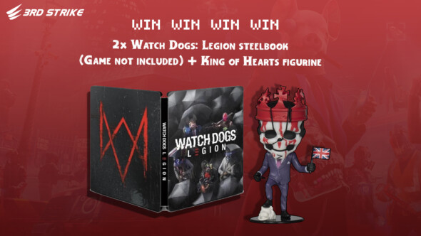 Contest: 2x Watch Dogs: Legion Steelbook (no game) and King of Hearts figurine (Benelux)