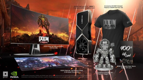 'DOOM Eternal' GeForce RTX 3080 Ti Limited Edition Demon Slayer Bundle now available