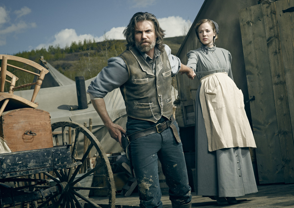 Anson Mount as Cullen Bohannon and Mackenzie Porter as Naomi - Hell On Wheels _ Season 4, Gallery - Photo Credit: James Minchin III/AMC