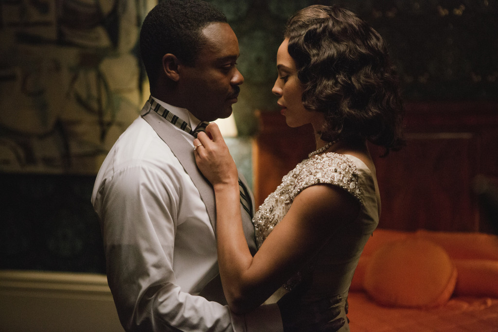 Left to right: David Oyelowo plays Martin Luther King, Jr. and Carmen Ejogo plays Coretta Scott King in SELMA, from Paramount Pictures and Pathé.