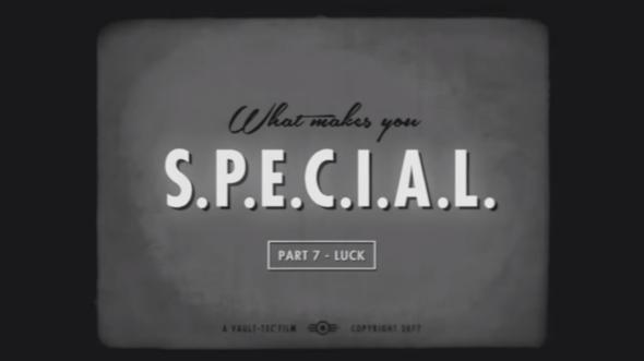 Fallout 4 S.P.E.C.I.A.L. Luck trailer