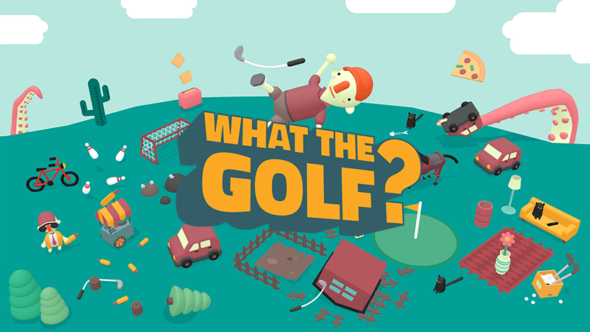 WHAT THE GOLF? Releases today on the Switch