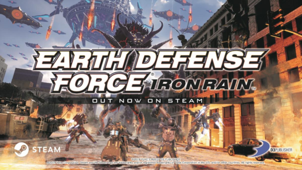 Earth Defense Force: Iron Rain launches for PC via Steam