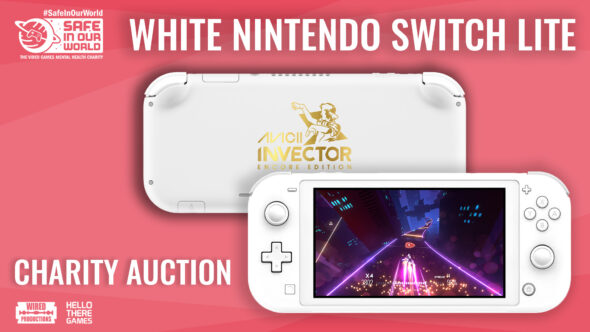 Win an incredibly rare Custom White Nintendo Switch Lite through raffle! All proceeds go to Safe in our World.