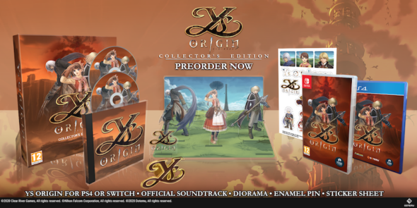 Cult classic YS Origin is getting Collector's Edition and Retail release