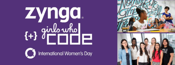 Zynga works together with Girls Who Code for International Women's Day
