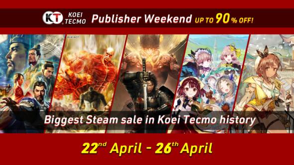 KOEI TECMO Steam Publisher Sale: 22nd April – 26th April