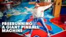 Red Bull puts Pasha Petkuns inside a giant pinball machine!